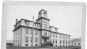 The Spavin Cure Building, circa 1890