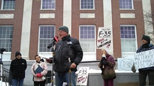 Ben Cohen speaking out against the F-35s