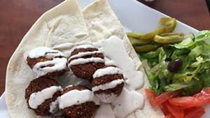 Falafel plate at Mr. Shawarma