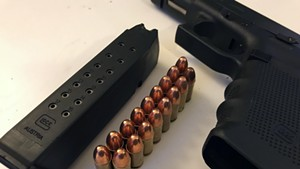 A 17-round magazine whose sale or transfer would be banned under S.55