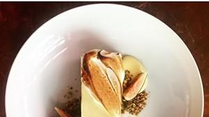 Lemon and olive oil icebox pie at Honey Road restaurant