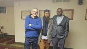 From left to right: Taysir Al-Khatib, Abd'Llah Al-Ansari, Yusuf Ali