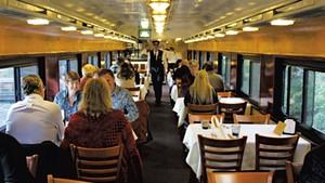 Passengers on the Champlain Valley Dinner Train