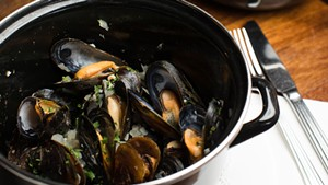 Mussels special at Bistro de Margot