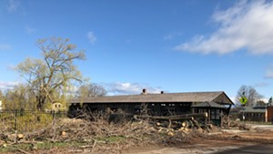 This tree came down, luckily not on the covered bridge