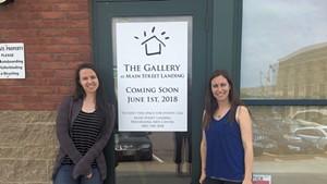 Tatiana E. Zelazo and Sarah Drexler outside the new Gallery at Main Street Landing.