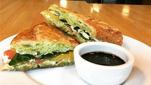 Clementine Catering's basil pesto Caprese sandwich