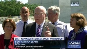 Sen. Patrick Leahy and other senators discussing Brett Kavanaugh's nomination to the U.S. Supreme Court