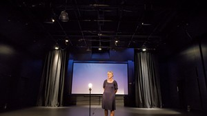 Mariah Riggs in the newly redesigned Black Box Theatre