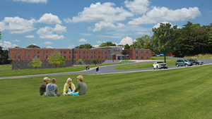 Rendering of the proposed renovation to Burlington High School.