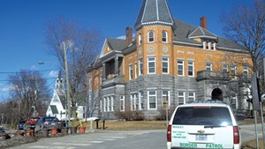 Haskell Free Library and Opera House in Derby Line
