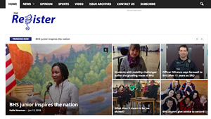The Register website