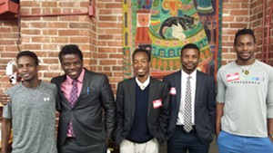 From left: Omar Bulle, Stefan Boley, Aden Haji, Mohamed Jafar, Ahmed Noor