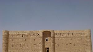 Qasr Al-Kharrana, a desert castle in modern-day Jordan