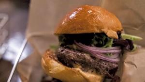 A meal at Worthy Burger