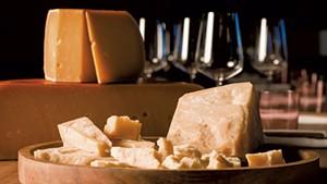 Gouda L'amuse (top) and Parmigiano Cravero