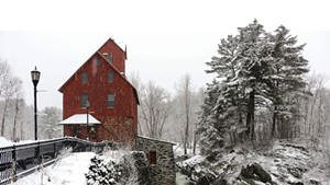 Old Red Mill, home to the Jericho Historical Society's Snowflake Bentley exhibit