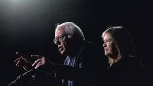 Jane O'Meara Sanders (right) and her husband