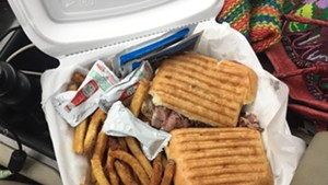 Roast beef panini with fries from Kerry's Kwik Stop