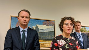 Attorney General T.J. Donovan with Department of Disabilities, Aging and Independent Living Commissioner Monica Hutt