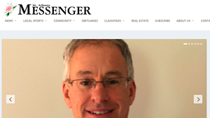 The St. Albans Messenger website features a photo of new owner Jim O'Rourke.