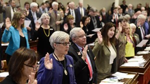 Members of the House take their oaths of office.