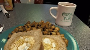 A breakfast at the Friendly Toast