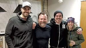 From left: Steve Parker, Craig Isvak, Brett Seymour and Jen Fleckenstein at Collaborative Brewing