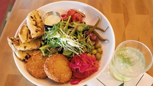 Ti' Punch and chickpea fritters at the Great Northern