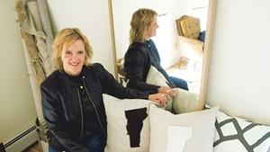 Interior designer Teri Maher at her studio in Waterbury