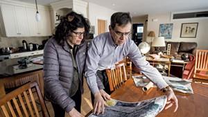 Above: Meg Handler and David Kaminsky in their Hinesburg home