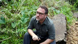 Colin Trevorrow on the set of Jurassic World
