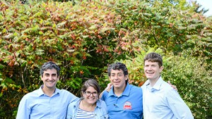 From left, Mayor Weinberger, Jen Kaulius, Mike Kanarick and Brian Lowe