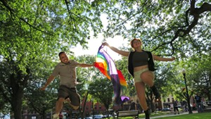 celebrating the ruling in City Hall Park