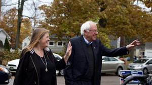 Sen. Bernie Sanders and his wife, Jane O'Meara Sanders