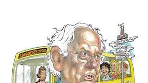 Bernin' Rubber: Inside Sanders' Rust Belt Road Trip