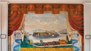 Curtain by Charles Henry, Albany town hall