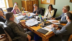 A conference committee of the Vermont legislature meets to discuss the adjutant general selection process.