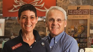 Renée Reiner and Michael DeSanto, co-owners of Phoenix Books