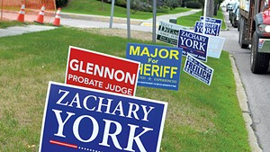 Campaign signs during the 2018 election