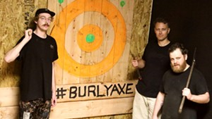 Jules Townsend, Mike Garber and Jesse Snyder of Burly Axe Throwing