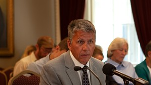 Brad Keating, Dairy Farmers of America's COO for the Northeast region, testifying Monday