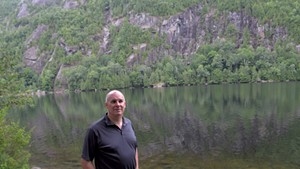 Keene Town Supervisor Joseph P. Wilson Jr. at Chapel Pond, a popular swimming spot