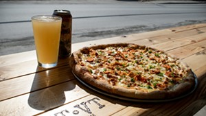 Pizza and beer at Stone's Throw Pizza in Fairfax