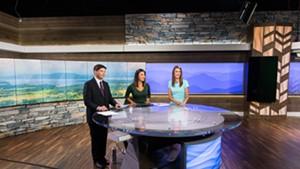 News staff in NBC5's new South Burlington studio
