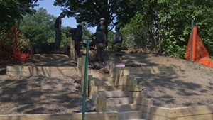 Stuck in Vermont: VYCC Community Crew Builds Stairs at Schmanska Park
