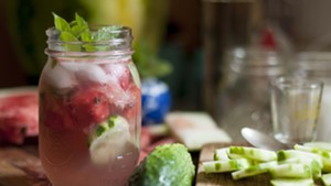 Gin, cucumber, melon, herbs