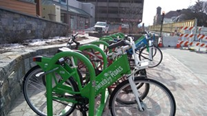 The Cherry Street bike share hub