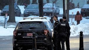 Good Times owner Derek Spilman being detained by Burlington Police