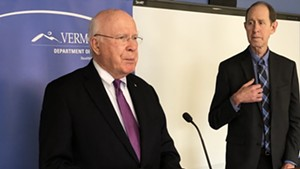 U.S. Sen. Patrick Leahy (D-Vt.) and Vermont Health Commissioner Dr. Mark Levine